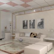 精美大户型全友家私沙发背景墙装修效果图