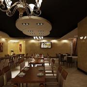 120平米精致欧式简约风格餐饮店装修效果图