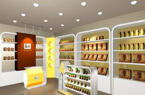 现代都市小型干果店面装修设计效果图