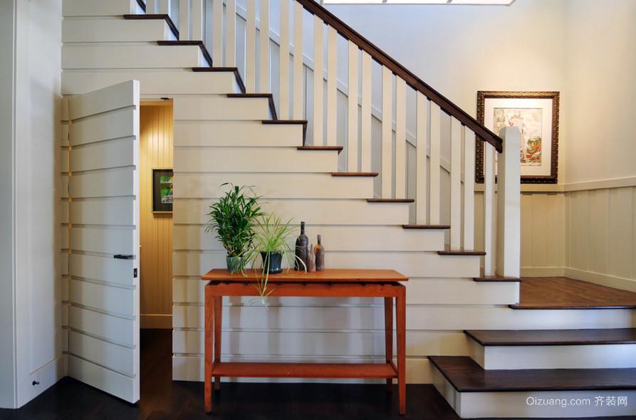 别墅中式风格楼梯装修效果图