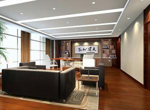 中式简约风格原木浅色办公室装修效果图