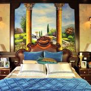 古典别墅卧室背景墙