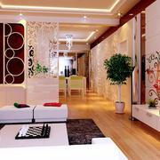 复式楼传统型玄关设计装修效果图
