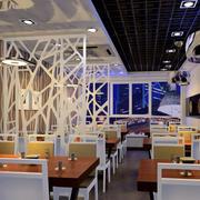 现代简约风格小型餐饮店装修效果图