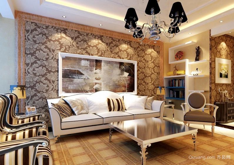 现代欧式大户型客厅创意设计装修效果图片