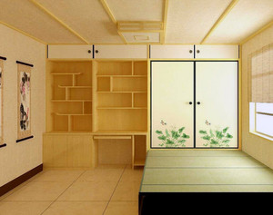 精致的日式大户型榻榻米床装修效果图