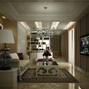 现代欧式单身公寓设计装修效果图