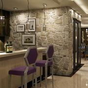 三居室时尚风格吧台设计装修效果图