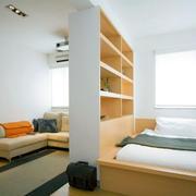 复式楼精致系列榻榻米床装修效果图