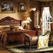 古典别墅深色卧室