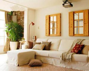 80平米小户型混搭风格客厅装修效果图