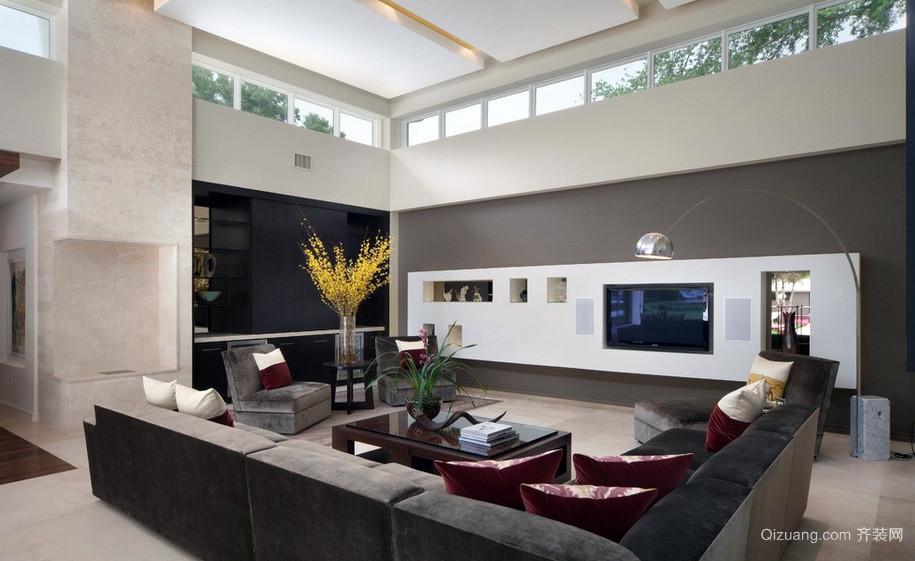 大型阳光房家装电视背景墙装修效果图片