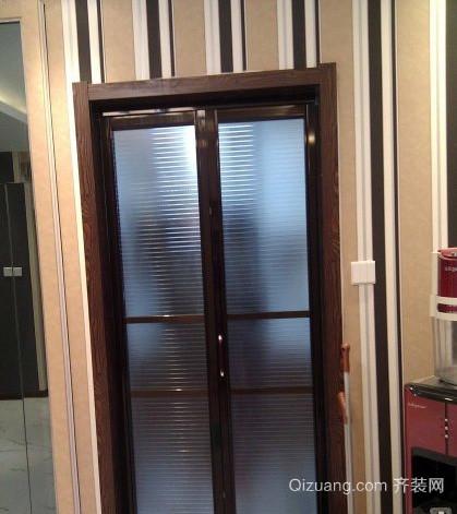 后现代风格简约厨房马赛克折叠门装饰效果图