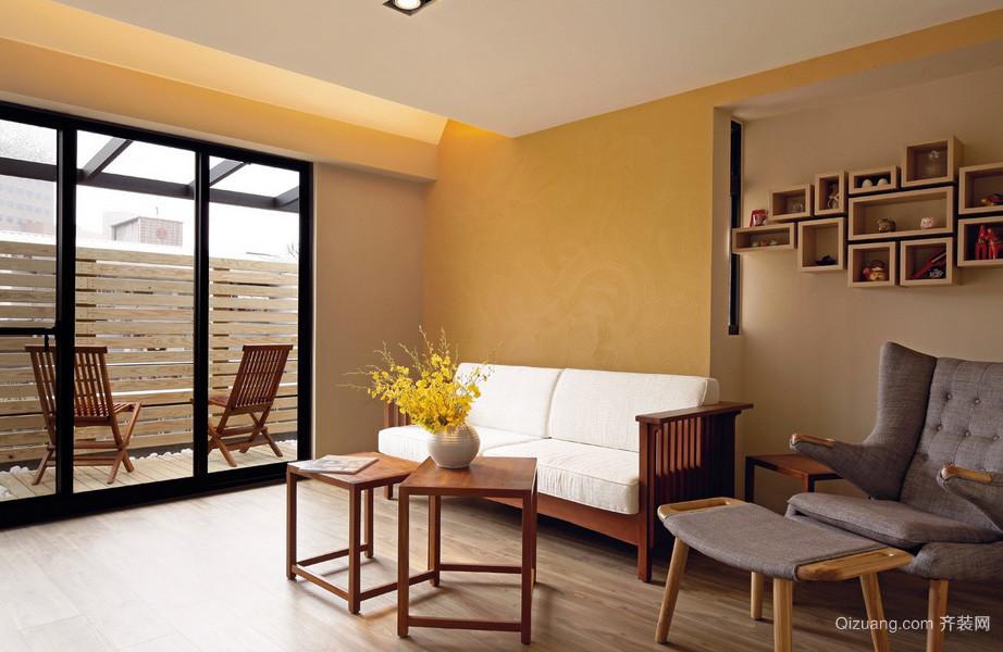 现代日式风格90平米家居装修效果图