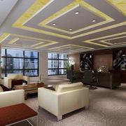 都市现代办公室吊顶装饰设计效果图