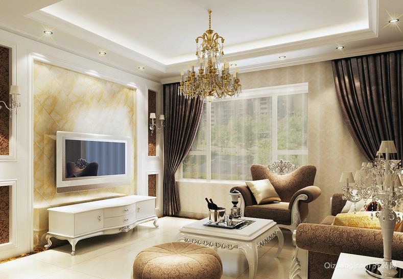 现代完美大户型欧式客厅飘窗装修效果图