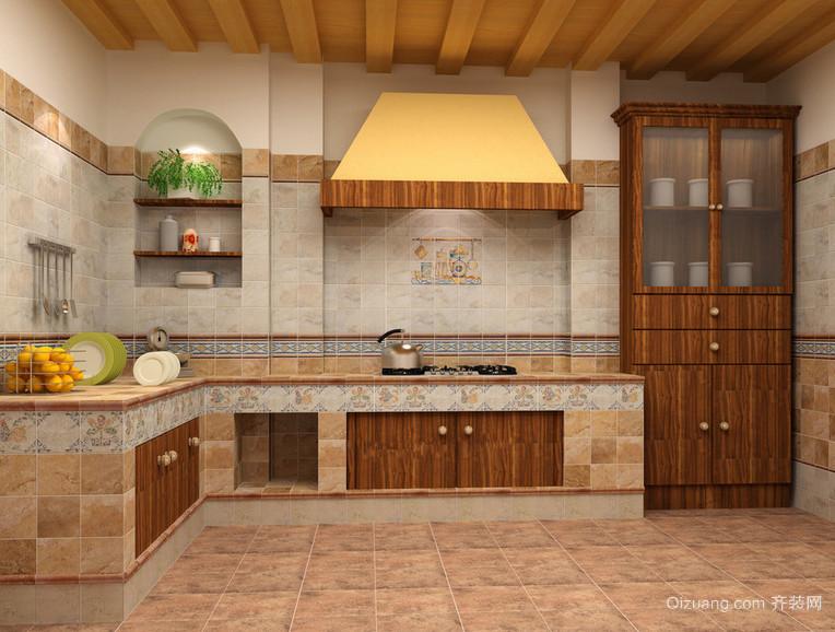 现代欧式大户型厨房装修效果图鉴赏