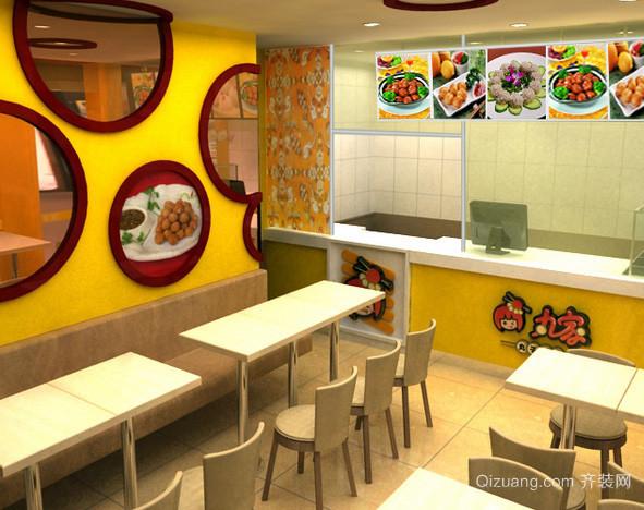 街角现代化时尚风格餐饮店装修效果图