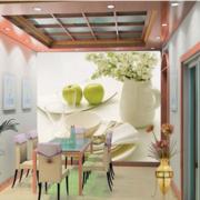 精致的都市大户型餐厅壁画装修效果图