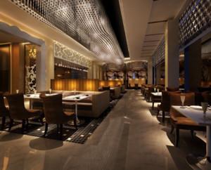 精美大方的大户型西餐厅装修效果图