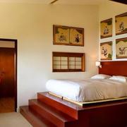 别墅柔软型榻榻米床装修效果图