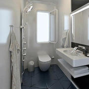 10平米小户型后现代风格卫生间装修效果图