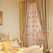现代欧式大户型飘窗窗帘装修效果图