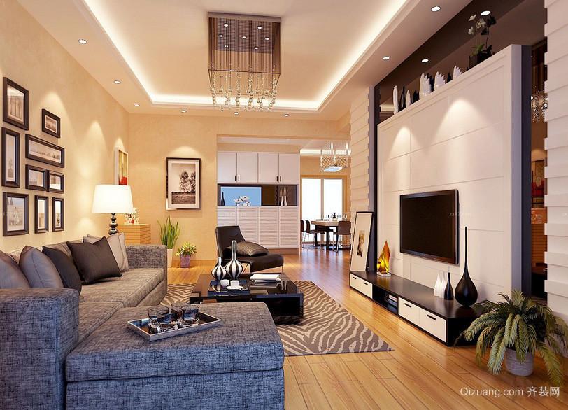 120平米现代都市家装电视背景墙装修图片