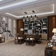 豪华的中式大型办公室装饰设计效果图