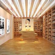 现代简约风格原木书店书柜装饰