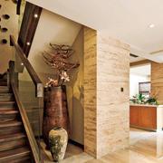 100平米深色调楼梯装修效果图