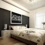 大户型卧室室内黑白装饰画装修效果图片