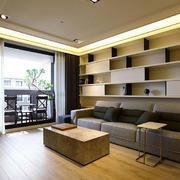 日式客厅置物架