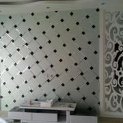 简约风格玻璃背景墙