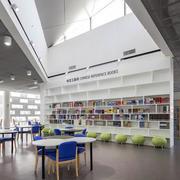 北欧风格清新书店置物架装饰