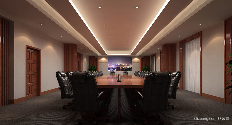 设施齐全会议室设计装修效果图