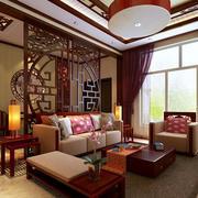 中式古典沙发背景墙