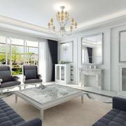 单身公寓梦幻系列客厅吊顶装修效果图