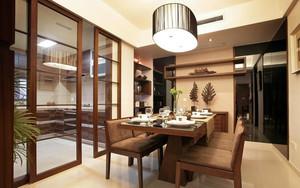 200平米简美厨房玻璃隔断推拉门装修效果图