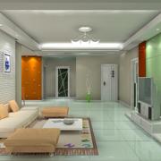 120平米大户型欧式家装电视背景墙装修效果图