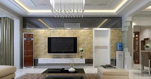 三居室宜家风格客厅吊顶装修效果图