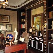 古典别墅书房图片