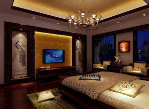 古典大卧室电视背景墙