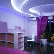 大户型婚房浪漫浅紫色房间卧室装修设计图