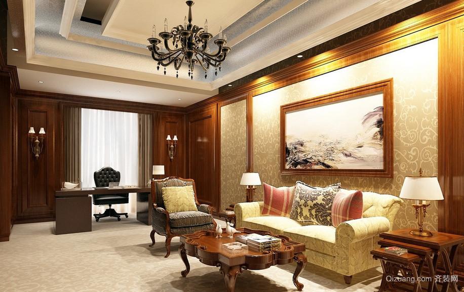 美式别墅家居办公室装饰设计效果图
