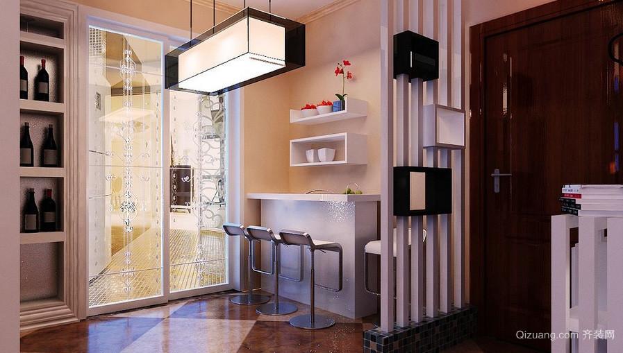 三居室多功能吧台设计装修效果图