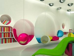 80平米现代简约风格儿童书店装修效果图