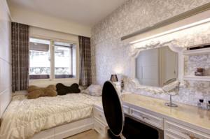 欧式大户型时尚卧室梳妆台装修效果图