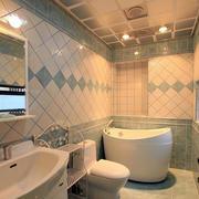 韩式清新简约风格卫生间瓷砖