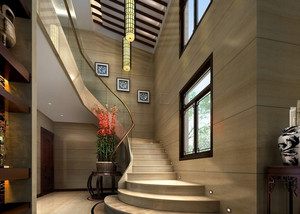 110平米美式风格楼梯装修效果图